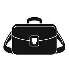 camera bag icon simple style vector image