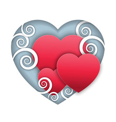 cartoon paper heart vector image