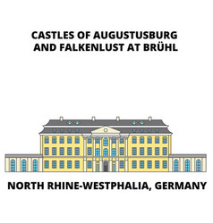 Castles of augustusburg westphalia germany lin vector
