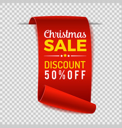 christmas sale paper banner vector image