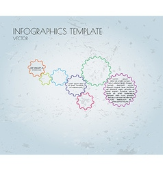 cogwheels and sample text infographics vector image