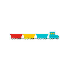 commercial train icon flat style vector image