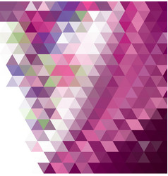 dark purple pink abstract mosaic pattern vector image