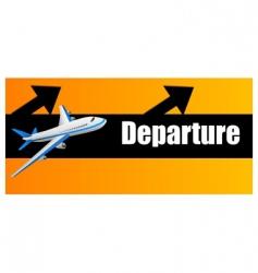 departure plane vector image