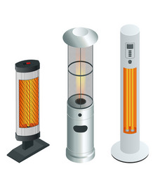 Electric modern long-wave infrared patio heaters vector
