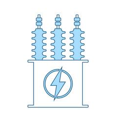 Electric transformer icon vector
