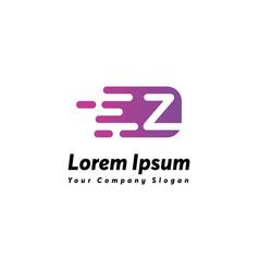Fast letter z logo icon design vector