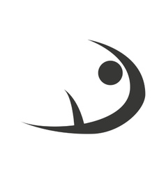Figure athlete silhouette icon vector