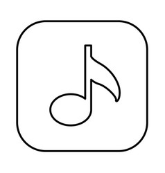 figure symbol music icon vector image