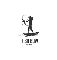 Fish bow silhouette logo vector