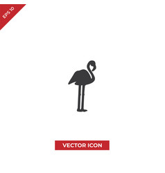 flamingo icon vector image