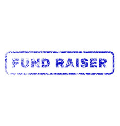 Fund raiser rubber stamp vector