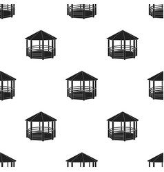 Gazebo icon in black style isolated on white vector