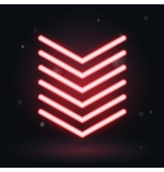 Glowing arrows on black background down symbol vector