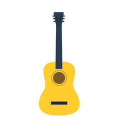 Guitar icon classical wooden guitar vector