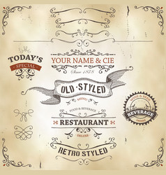hand drawn western banners and ribbons vector image