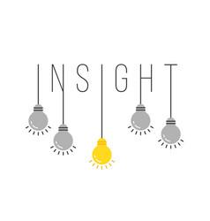 Hanging set bulb like insight vector