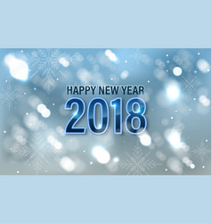 happy new year 2018 banner or greeting card with vector image