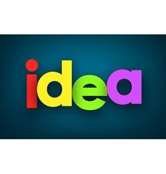 Idea sign vector