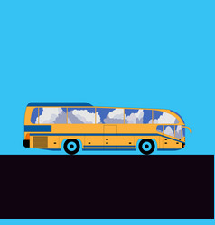 Intercity or tourist bus flat vector