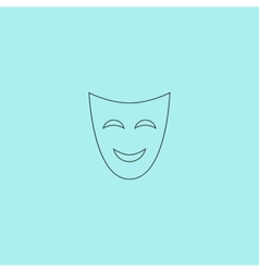 Joyful mask vector