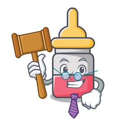 Judge nassal drop mascot cartoon vector
