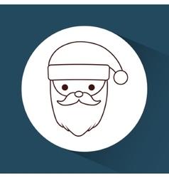 Kawaii santa of Christmas season design vector