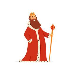 King - modern cartoon people characters vector