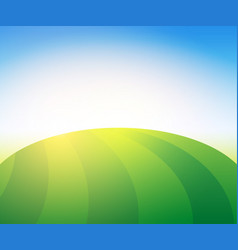 Landscape with green pasture farm field vector