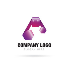 letter a logo concept vector image