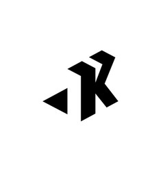 letter k with negative space vector image