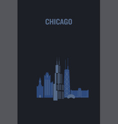 made with icons chicago vector image