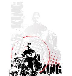 Motorbike poster background vector