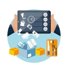 Online ecommerce technology internet shopping vector