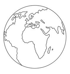 our planet icon outline style vector image