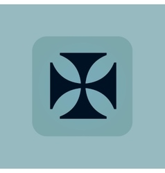 Pale blue maltese cross icon vector
