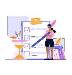 Personal productivity concept vector