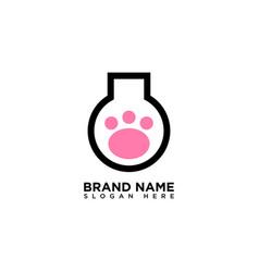 Pet lab logo design template vector