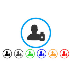 Pharmacist medicine rounded icon vector