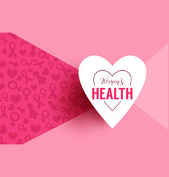 pink background with paper heart frame vector image