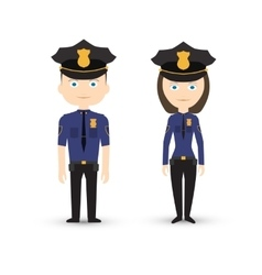 police officer male and female vector image