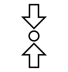 Pressure Vertical Outline Icon vector