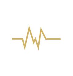 Pulse ekg icon design template isolated vector