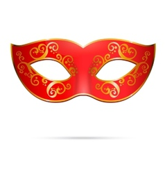 red venetian carnival mardi gras party mask vector image