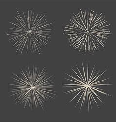 retro starbursts 1401 vector image