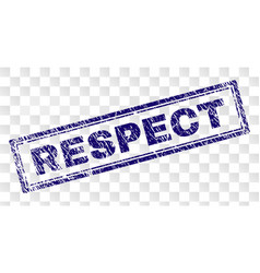 Scratched respect rectangle stamp vector