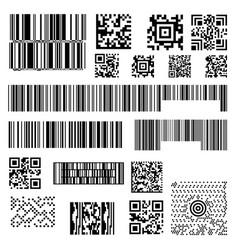 set abstract barcode bar code templates vector image