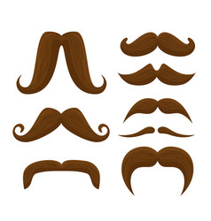 Set male mustaches style to movember event vector