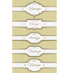 Set of the label templates vector
