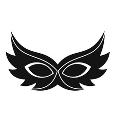 show mask icon simple style vector image